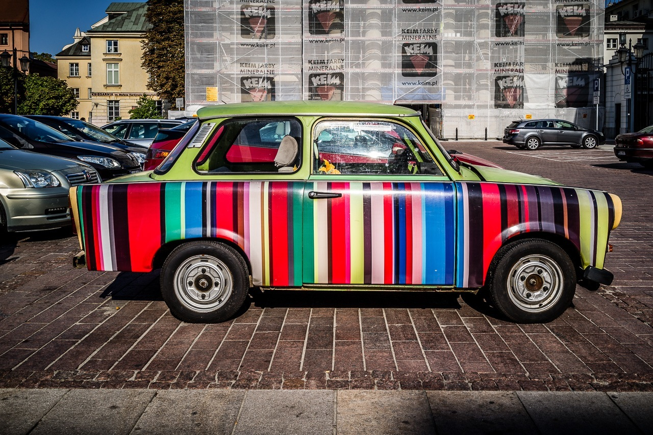 New cars require more skills than this old Trabant needed.